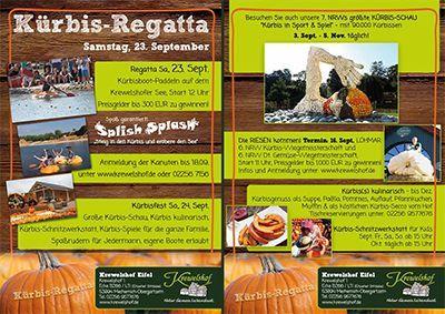 Kürbis-Regatta und Kürbisfest auf dem Krewelshof Eifel