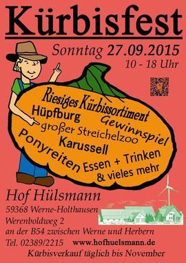 Kürbisfest auf dem Hof Hülsmann 2015 Kürbis