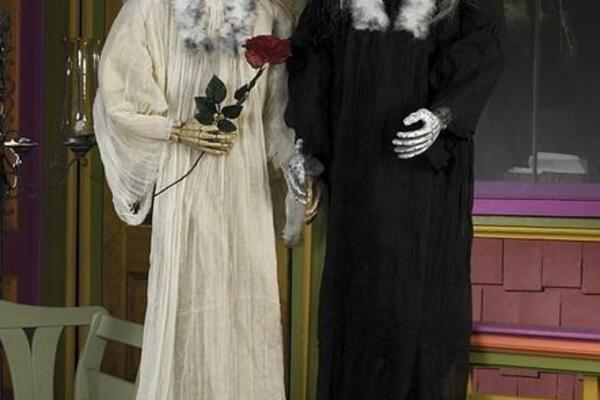 Hängefiguren - Skelett-Hochzeitspaar