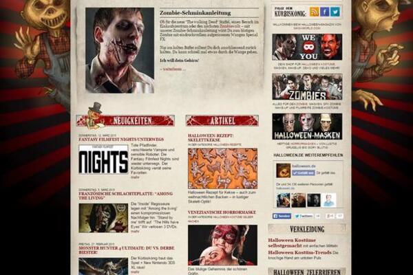 Screenshot der Website